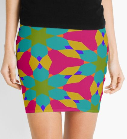 Groovy Flower Design by Julie Everhart Mini Skirt