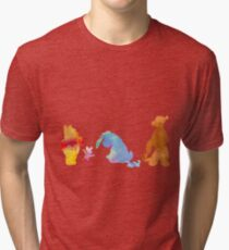 Friends together Inspired Silhouette Tri-blend T-Shirt