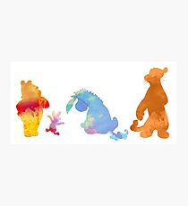 Friends together Inspired Silhouette Photographic Print