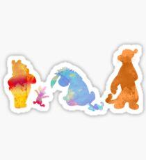 Freunde zusammen inspiriert Silhouette Sticker