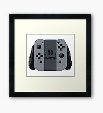 Nintendo switch controller in pixelart Framed Print