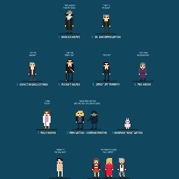 Sherlock - 8bit tribute / characters by playstopreplay