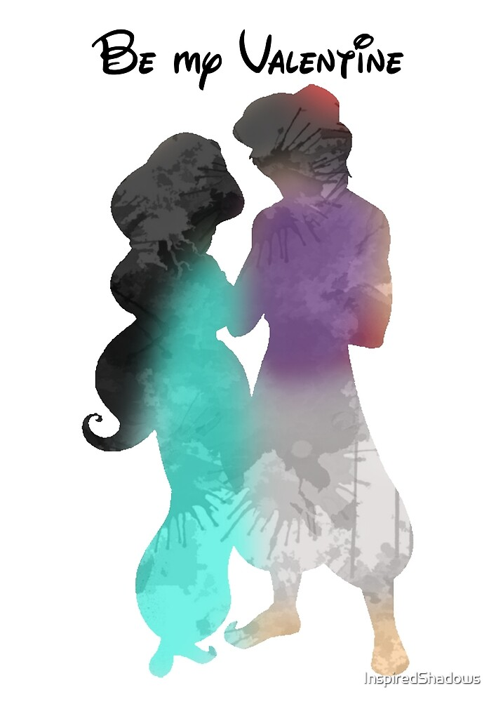 Prince and Princess Valentine Inspired Silhouette by InspiredShadows