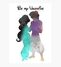 Prince and Princess Valentine Inspired Silhouette Photographic Print