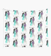 Prince and Princess Valentine Inspired Silhouette Wall Tapestry