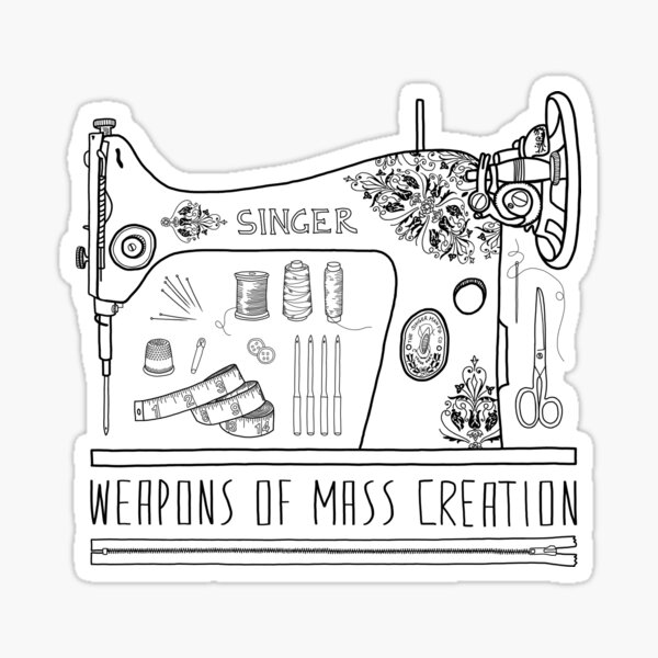 Weapons Of Mass Creation - Sewing Sticker