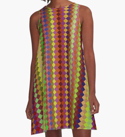 Retro Stripes by Julie Everhart A-Line Dress