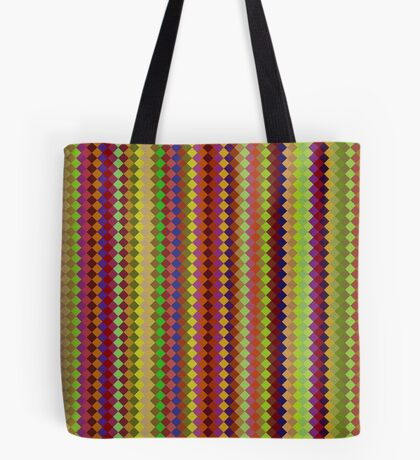Retro Stripes by Julie Everhart Tote Bag