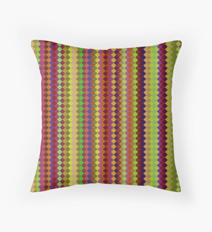 Retro Stripes by Julie Everhart Throw Pillow