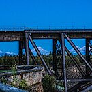 Mountains Through the Trestle/Redmond by Richard Bozarth