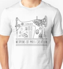 Camiseta ajustada Armas de creación en masa - Costura
