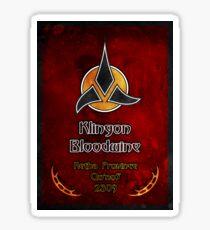 Klingon Bloodwine Label Sticker