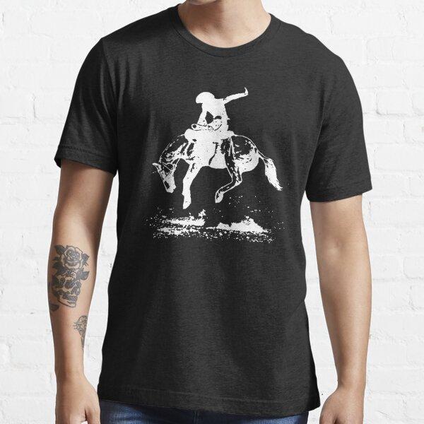Rodeo Bucking Horse Cowboy Riding Stallion Essential T-Shirt