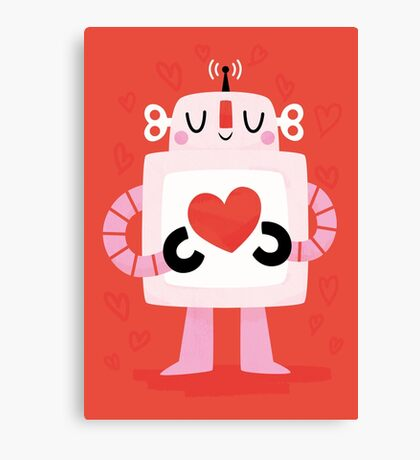 Love Robot Canvas Print