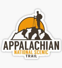 HIKING APPALACHIAN TRAIL HIKE HIKER MOUNTAINS MAINE GEORGIA TENNESSEE Sticker