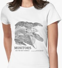 Monitors are the best animals Women's Fitted T-Shirt