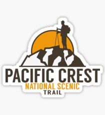 HIKING PACIFIC CREST TRAIL HIKER HIKE MOUNTAINS CALIFORNIA OREGON WASHINGTON CANADA Sticker