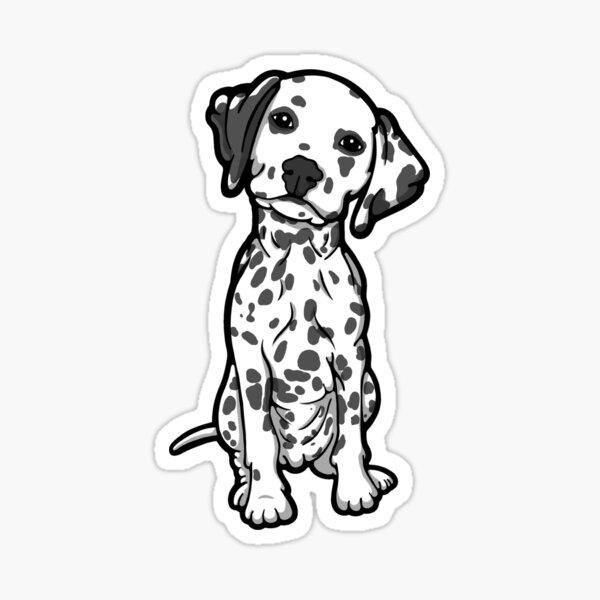 Dalmatian White Grey Spots Sticker