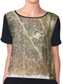 Snowing in the woods Chiffon Top