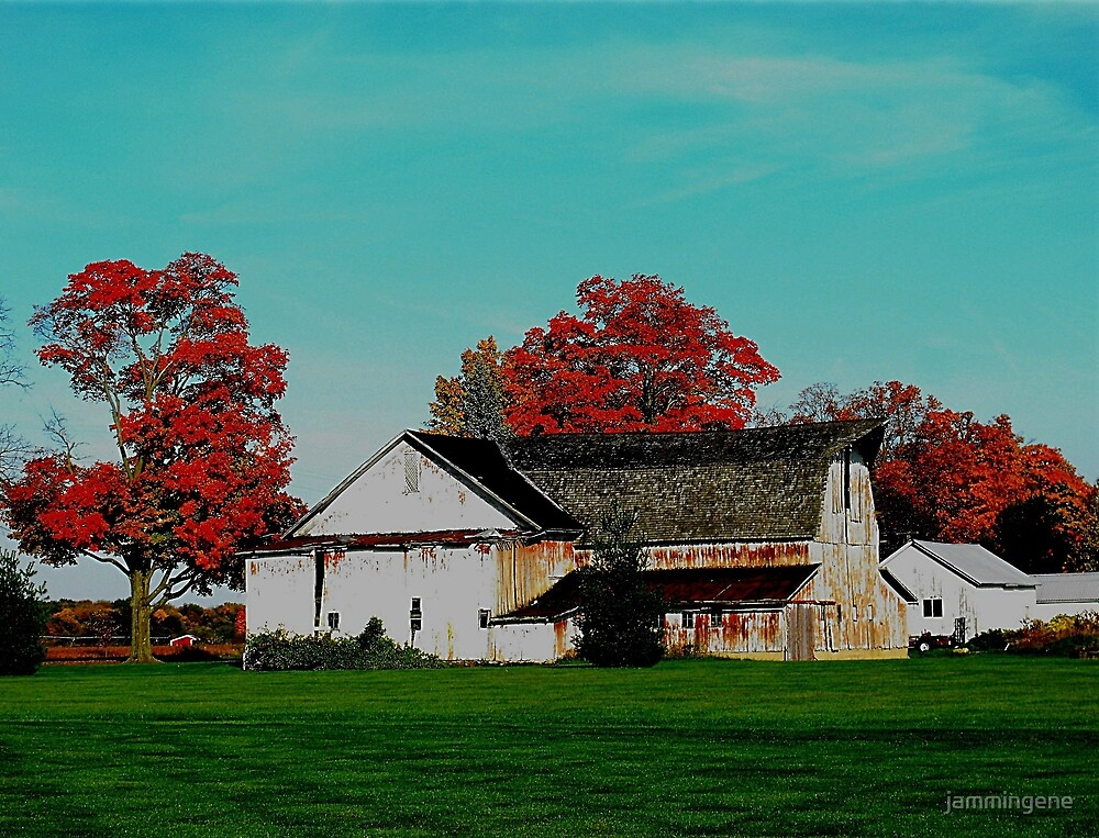 Fall on a farm by jammingene