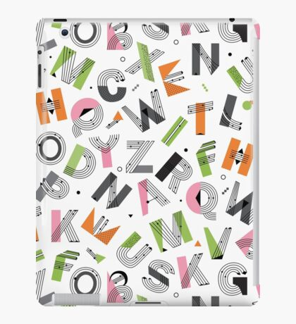 Alphabet seamless pattern. Memphis Design iPad Case/Skin