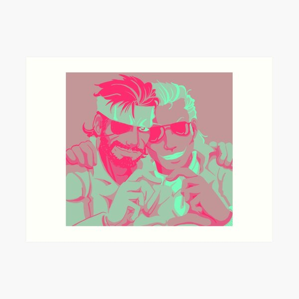 Kazuhira Miller Art Prints Redbubble Big boss rescues kazuhira miller and brings him back to the new mother base. redbubble