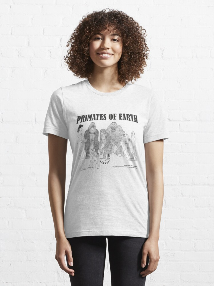 Alternate view of Primates of Earth Essential T-Shirt