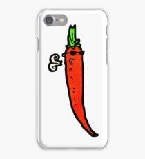 cartoon chili pepper iPhone Case/Skin