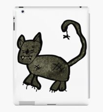 child's drawing of a black cat iPad Case/Skin