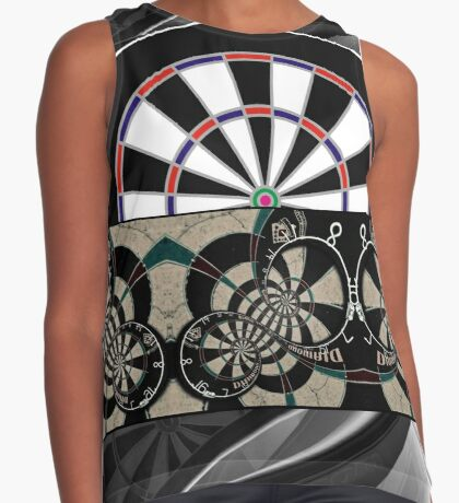 Abstract Darts Shirt Contrast Tank