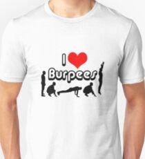 I Love Burpees figures Unisex T-Shirt
