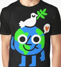 World Peace & Love Graphic T-Shirt