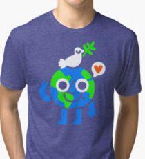 World Peace & Love Tri-blend T-Shirt