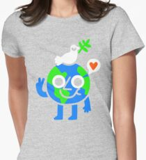 World Peace & Love Womens Fitted T-Shirt