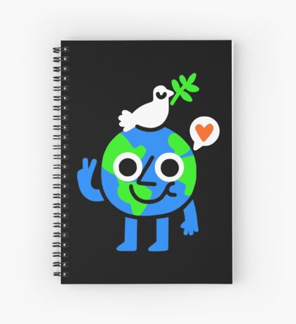 World Peace & Love Spiral Notebook