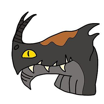 Minimalist Dragons: Night Terror by cantabileChaos