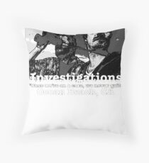 Terriers Dolworth and Pollack Investigations Throw Pillow