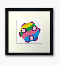 Colorful sticky rolling ball Framed Print