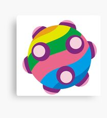 Colorful sticky rolling ball Canvas Print