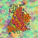 Tie Dyed Butterfly  by JanDeA
