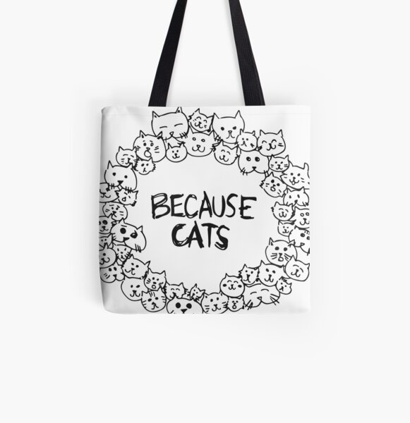Funny Kitten Shoulder Shopper Luna Crazy Cat Lady Large Beach Tote Bag