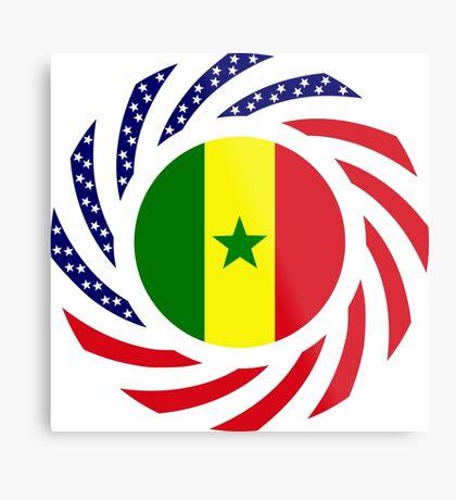 Senegalese American Multinational Patriot Flag Series Metal Print