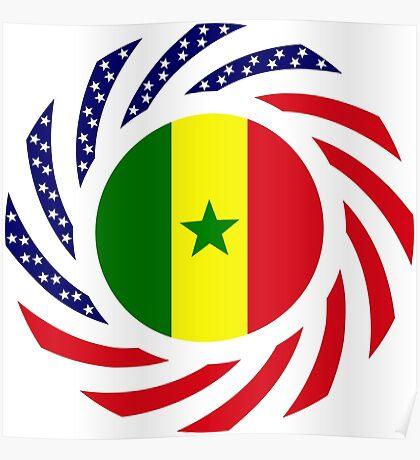 Senegalese American Multinational Patriot Flag Series Poster