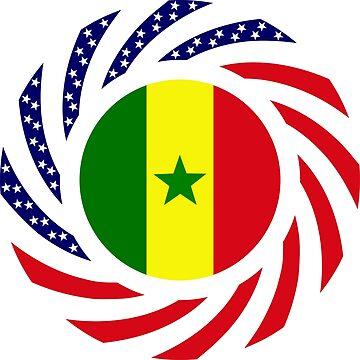 Senegalese American Multinational Patriot Flag Series by carbonfibreme