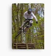 Downhill Mountain Biker Canvas Print