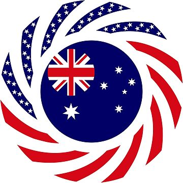 Australian American Multinational Patriot Flag Series by carbonfibreme