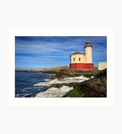 Coquille River Lighthouse At Bandon Art Print