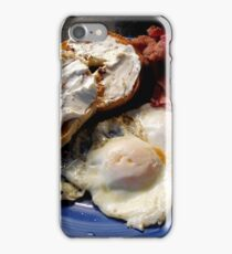 Bacon, eggs, bagel with cream cheese iPhone Case/Skin
