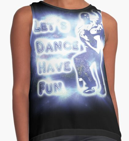 Lets dance have fun Contrast Tank