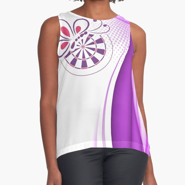 Bed And Butterfly Darts Shirt Sleeveless Top
